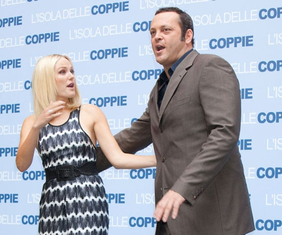 Slide Photo of Vince Vaughn and Malin Akerman in Italy for Couples Retreat