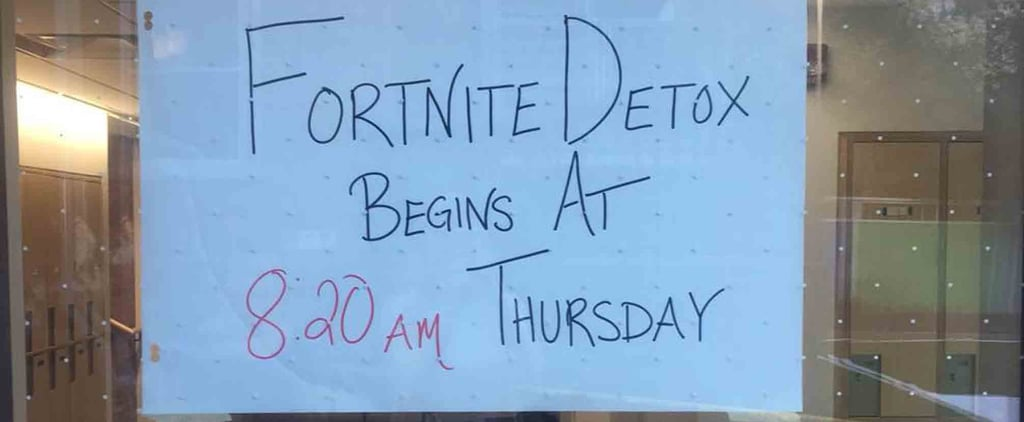 Back-to-School Fortnite Sign