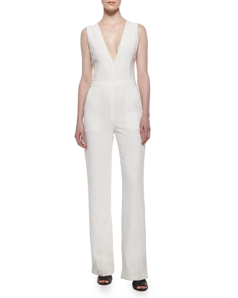 A.L.C. Luree Sleeveless Crisscross-Back Jumpsuit ($625)