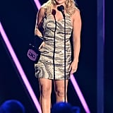 Miranda Lambert accepted an award on stage.