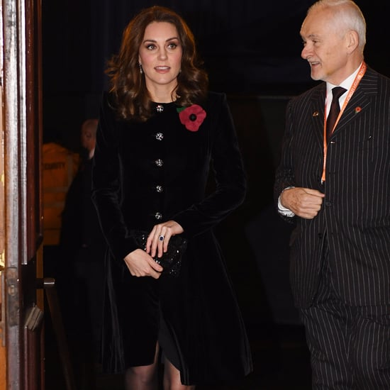 Kate Middleton Velvet Catherine Walker Dress