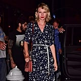 Taylor Looked Good in the Printed Maxi!