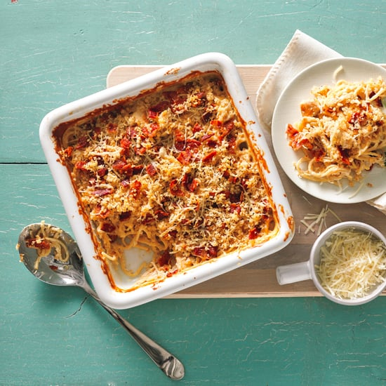 Cheesy Chicken and Bacon No-Boil Pasta Bake Recipe