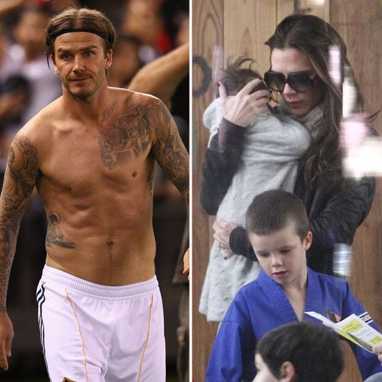 Victoria and Harper Check Out Karate As David Goes Shirtless Down Under