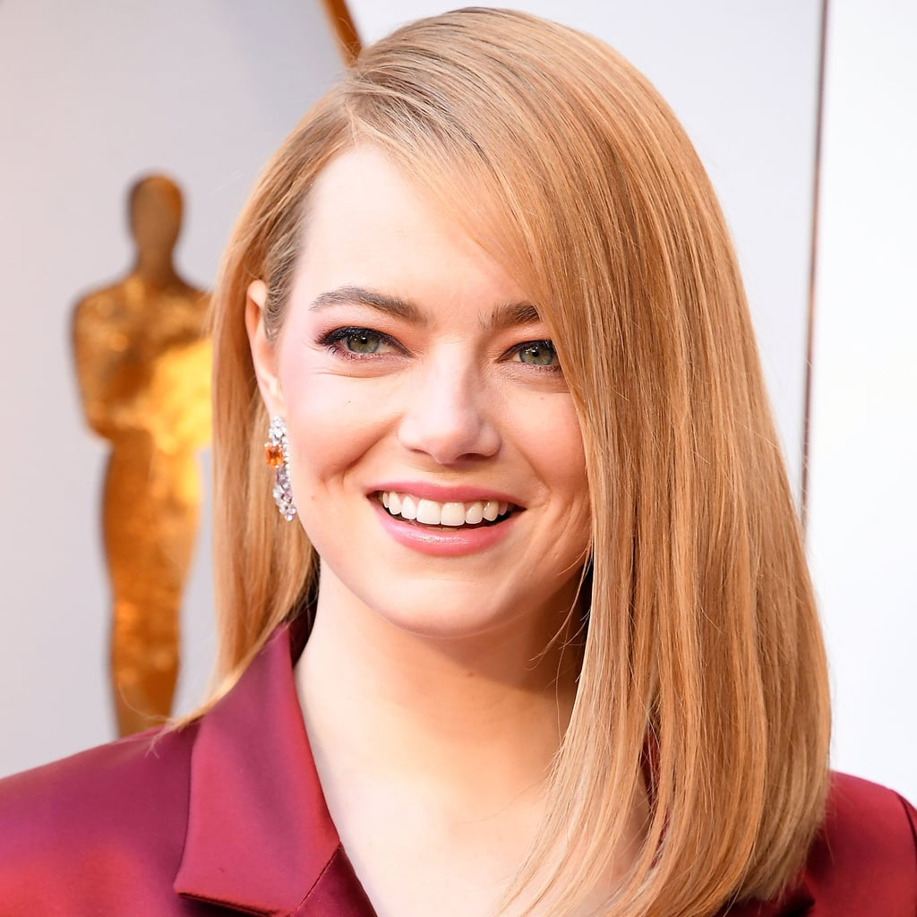 Emma Stone Wearing New Kiehl's Product at the 2018 Oscars