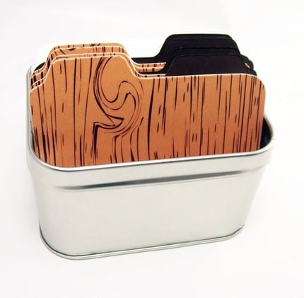 Wood Grain File Box ($16)
