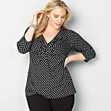 Avenue Polka Dot Twist Top