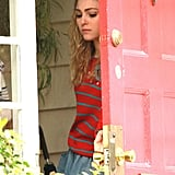 AnnaSophia Robb on set of The Carrie Diaries.