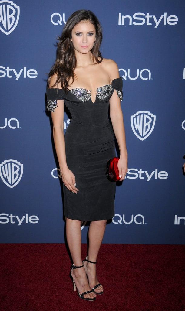 Nina Dobrev in a Sexy Dress . . .
