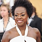 Viola Davis wasn't about to hit the red carpet without a touch of color. Her chunky Van Cleef & Arpels earrings are just right.