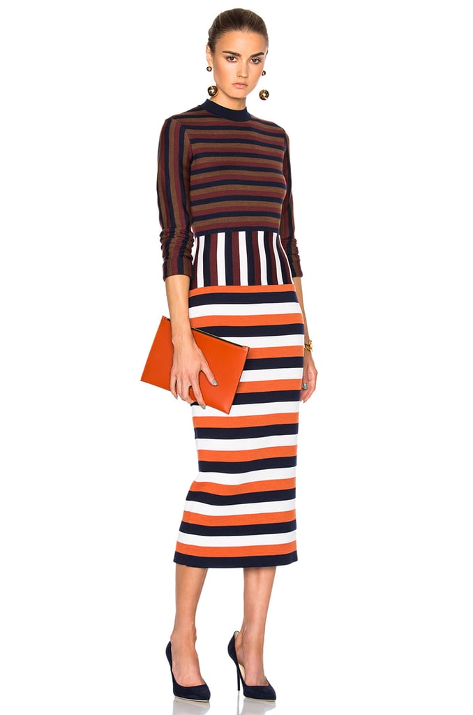 Victoria Beckham Compact Wool Striped Dress ($1,240)