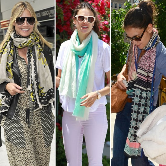 How to wear scarves in the summer celebrity pictures popsugar how to wear scarves in the summer celebrity pictures ccuart Image collections