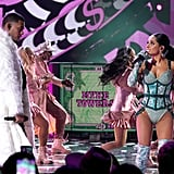 """Becky G and Myke Towers performing """"Dollar"""" at the Latin AMAs"""