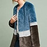 Molliolli Colorblocked Faux Fur Coat