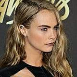 Cara Delevingne's Teensy-Tiny Parting Plait, 2016