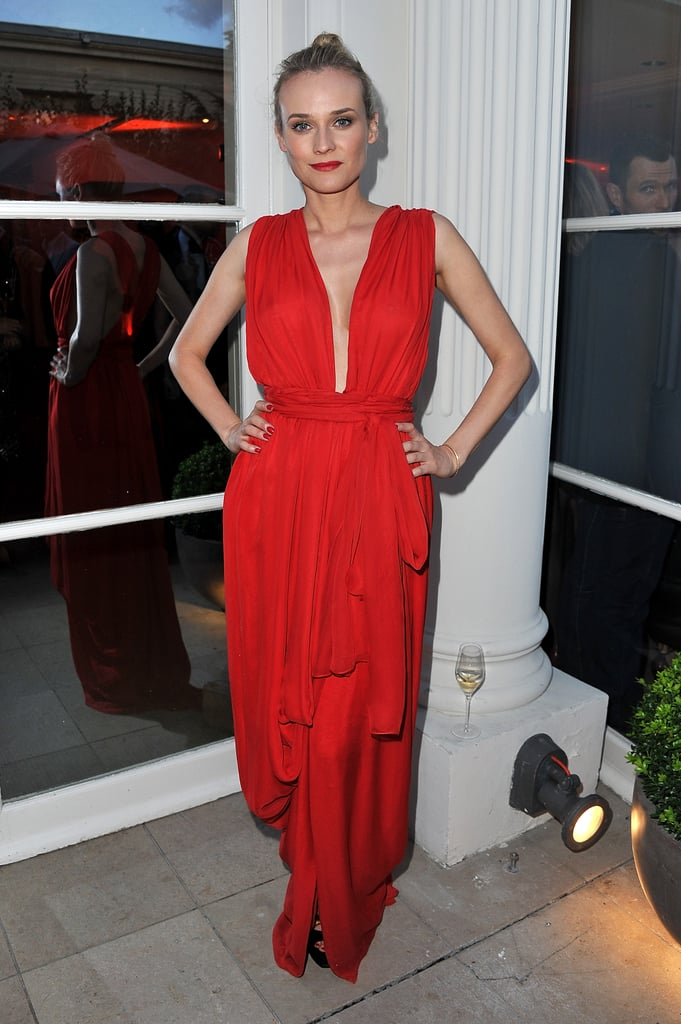 Diane Kruger Wearing YSL at the amfAR Inspiration Gala in 2011