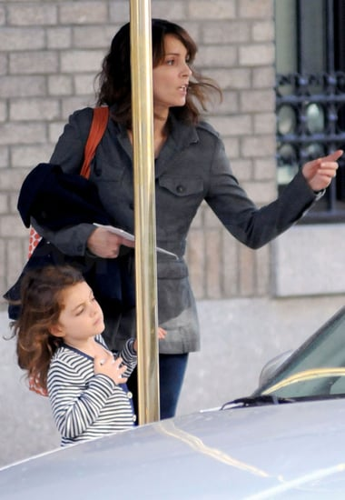 Pictures of Tina Fey and Alice Richmond Heading to School in NYC