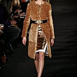 The bronze tone on this coat at Prabal Gurung is amazing.