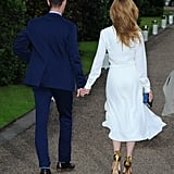 Matt Smith and Lily James at the Vogue and Ralph Lauren Wimbledon Party
