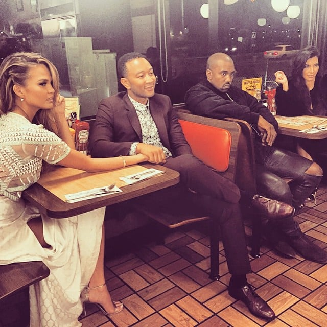 Kim Kardashian Isn't Too Fancy For a Double Date at a Fast Food Joint