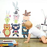 He'll have an instant room full of friends with Pop & Lolli's reusable fabric Bears-n-Bunny Rabbits Decals ($89).