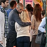 Reese Witherspoon and Jim Toth waited in line for crepes.
