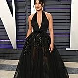 Priyanka Chopra Elie Saab Dress at Vanity Fair Oscars Party