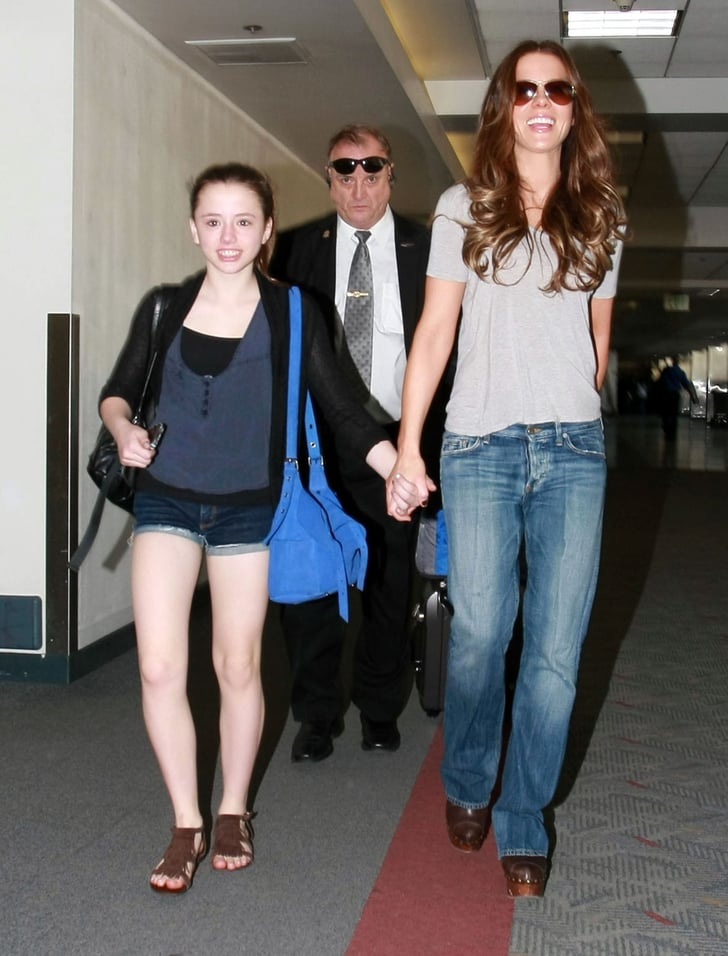 Kate Beckinsale and Lily Sheen held hands.