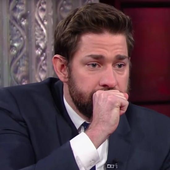 John Krasinski and Stephen Colbert's Fake Vomit-Off