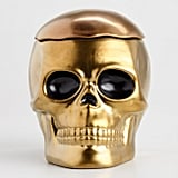 Gold Ceramic Skull Cookie Jar ($15)