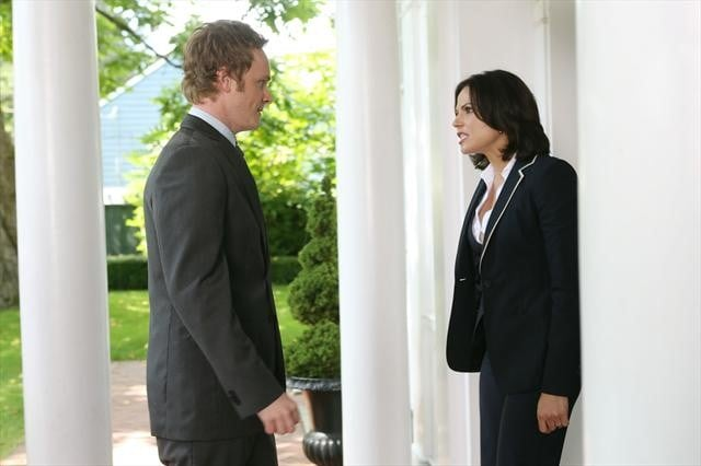 Dr. Whale and Regina have a civil chat.