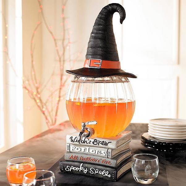 Witch's Brew Pumpkin Beverage Dispenser by Grandin Road