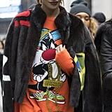 Jourdan Dunn at New York Fashion Week Fall 2016