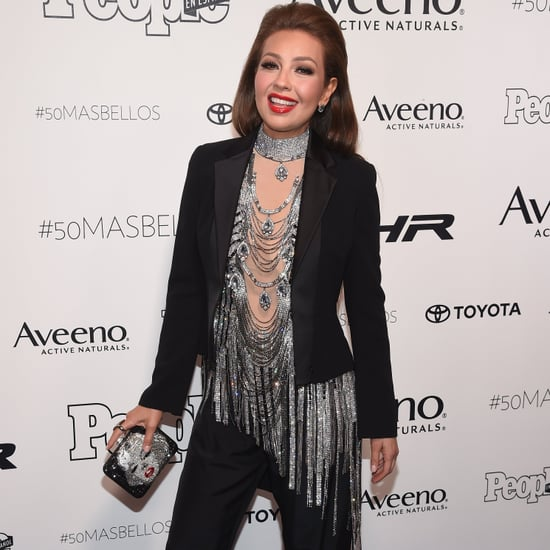 Thalia at People en Espanol's 50 Mas Bellos Red Carpet 2017