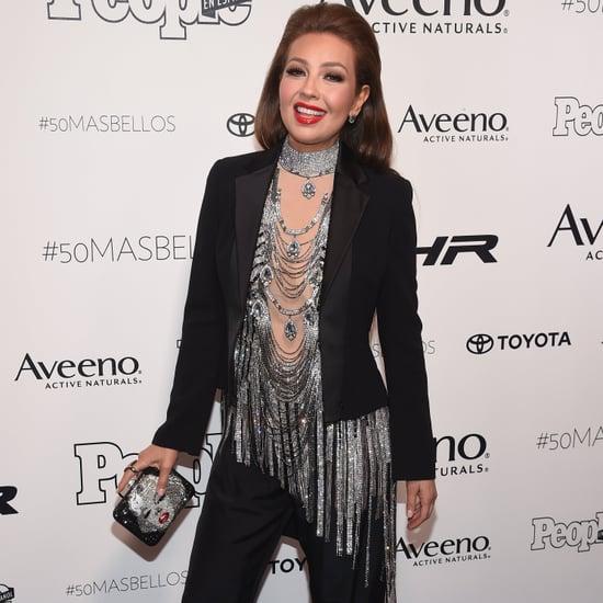 Thalia at People en Espanol's 50 Mas Bellos Red Carpet 2017