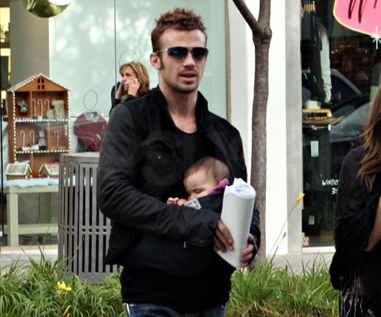 Slide Photo of Cam Gigandet Carrying Everleigh In LA