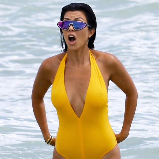 Kourtney Kardashian's Mirrored Sunglasses September 2016