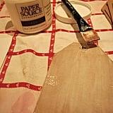 Glue awaiting glitter