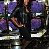 Serena Williams at Tory Burch's NYC flagship store.