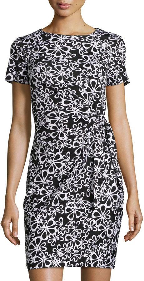 Kate Middleton Wearing Black and White Tory Burch Dress | POPSUGAR ...