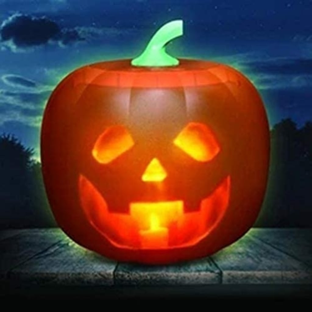 Halloween Flash Talking Animated LED Pumpkin