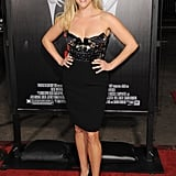 Looking sexy and sassy in a beaded Miu Miu dress for the This Means War Los Angeles premiere in 2012.