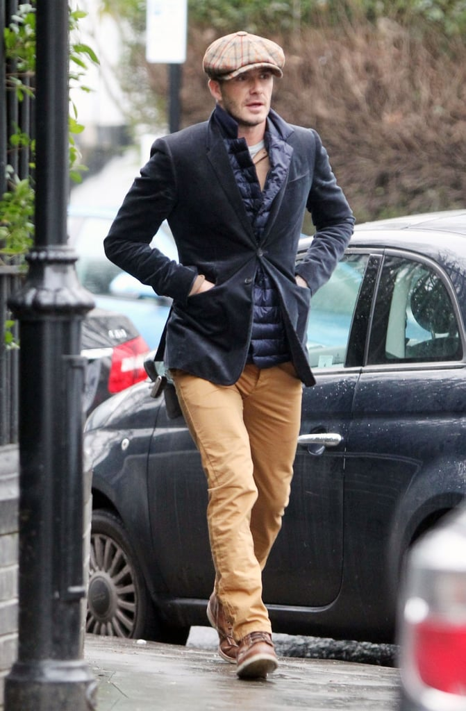 David Beckham was well accessorized for a walk in London yesterday. It was a big afternoon for the Beckham family, as David was in the stands to watch as his oldest son, 13-year-old Brooklyn Beckham, attend a training session. It was a match for the Chelsea team's under-14 squad, and Brooklyn's presence there fuels rumors that he's bound for a career in soccer just like his dad. The Beckham family is getting reacquainted with London after leaving LA at the end of last year, when David ended his contract with the LA Galaxy. David himself is currently unaffiliated with a team. Mom Victoria, though, is staying busy prepping her fashion lines for their shows during the upcoming Fashion Week.