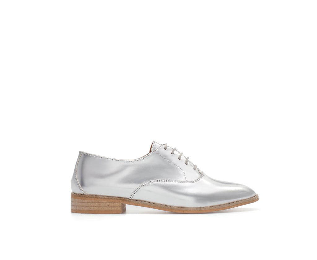Zara's Patent Bluchers ($90) are a totally sleek play on the menswear vibe.
