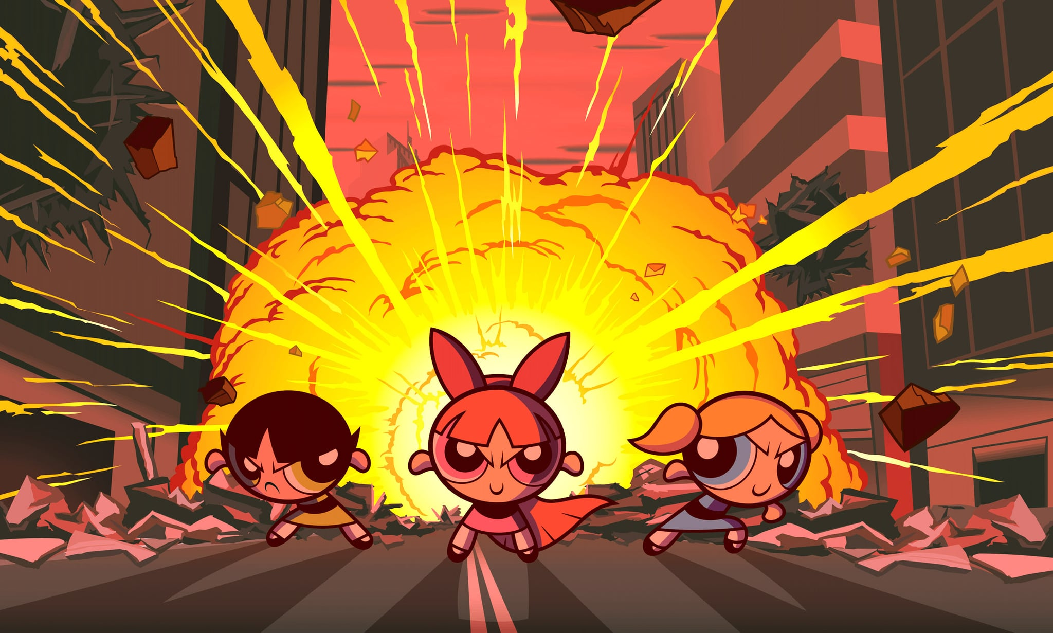 POWERPUFF GIRLS, THE, Buttercup, Blossom, Bubbles, 2002 (c) Warner Brothers.  Courtesy Everett Collection.