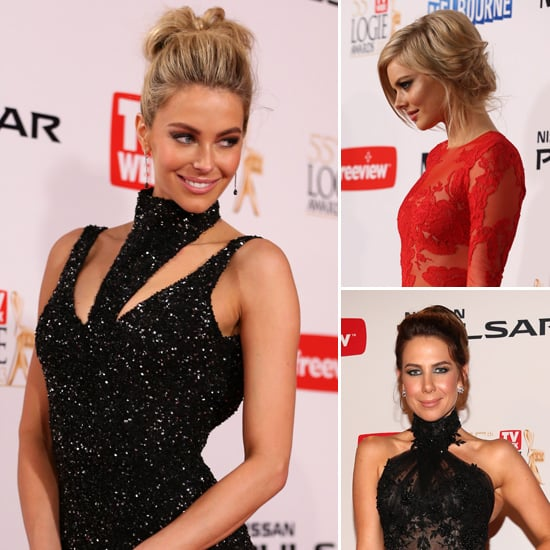 Samara Weaving, Jennifer Hawkins at the 2013 Logies