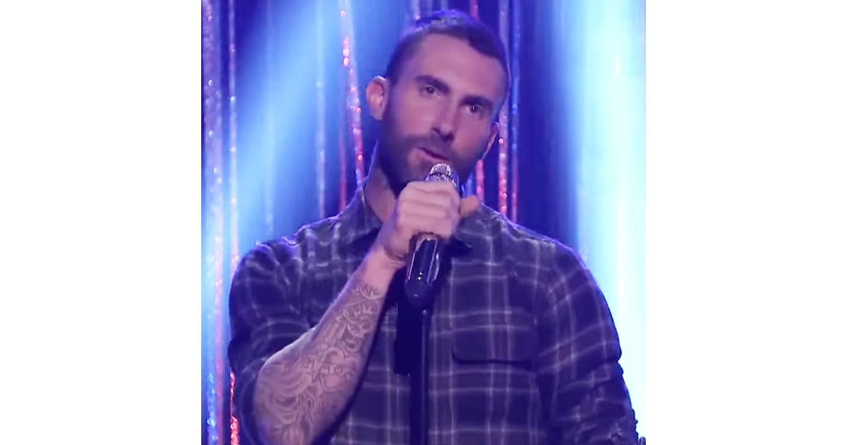 c63ce910a00 The Voice Coaches Play Spin the Microphone With Jimmy Fallon. Adam Levine  ...