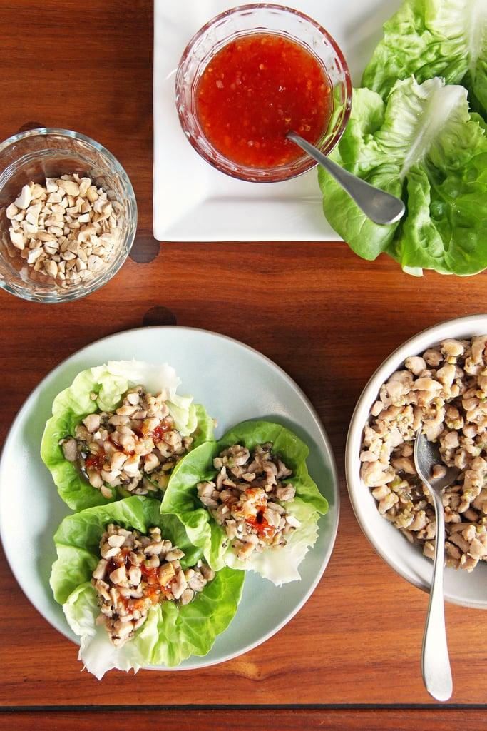 Chinese Chicken and Shiitake Mushroom Lettuce Wraps