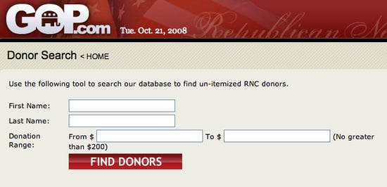The RNC Small Donor Look Up Tool: Gimmick or Great?