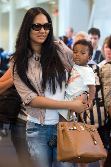 Kimora Lee Simmons and Baby Kenzo Depart LAX